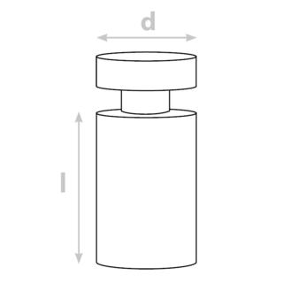 Distanční šroub 13 x 13 mm (hliník)